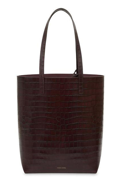 Croc Embossed Leather Everyday Tote in Classic