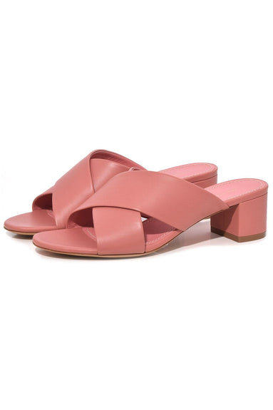 Crossover Sandal in Blush
