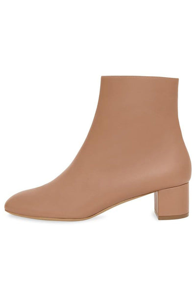Lambskin Ankle Boot in Taupe