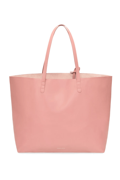 Lambskin Oversized Tote in Coral