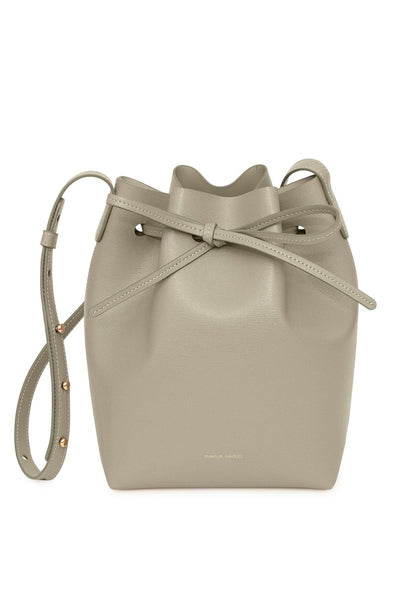 Saffiano Mini Bucket Bag in Elefante
