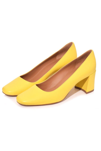 Square Toe Pump in Sun