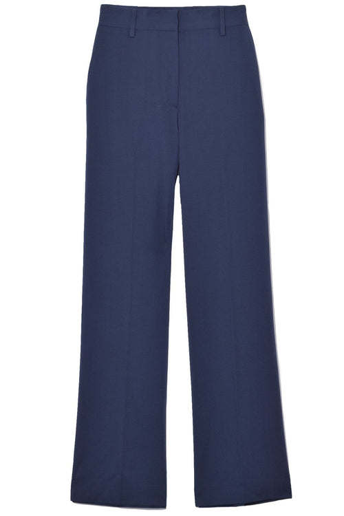 Straight Tailored Pant in Blu