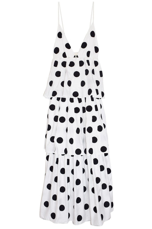 Bari Dress in White/Black