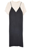 Daija Dress in Cream/Black