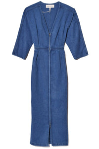 Annetta Dress in Light Denim
