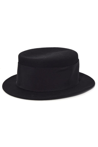 Small Boater Hat in Black