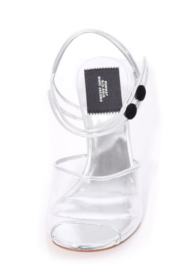 Wedge Sandal with Plexiglass Heel in Clear