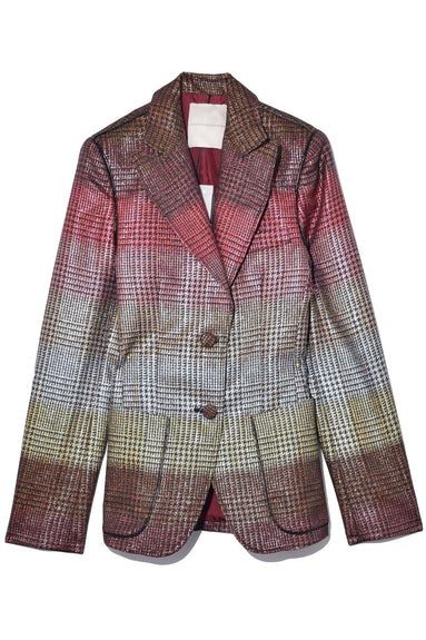 Plaid Blazer in Prince of Wales