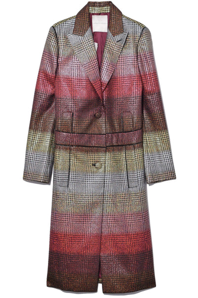 Plaid Coat in Prince of Wales