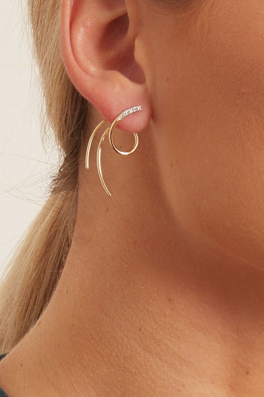 Galaxy Spin Earring in Yellow Gold (Right)