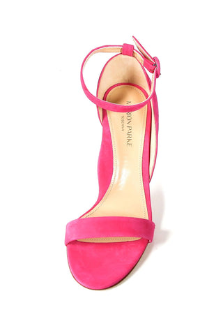 Larkspur Heel in Hot Pink Suede