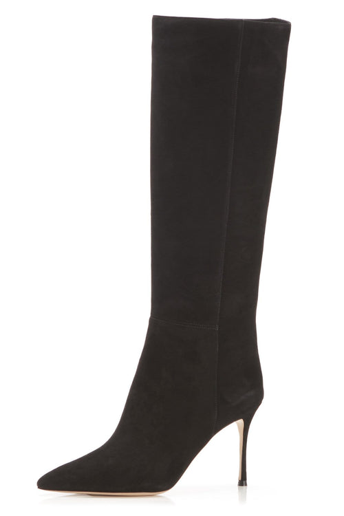 Marie Boot in Black Suede