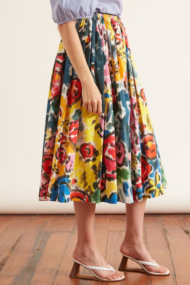 A-Line Printed Skirt in Lemmon Cay