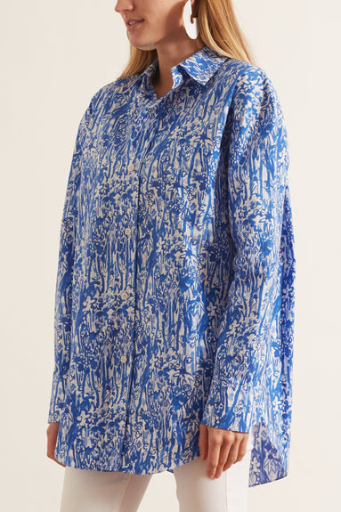 Button Down Shirt in Blue China