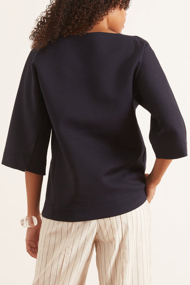 Double Face Jersey Sweatshirt in Deep Blue