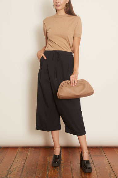 Wide Leg Trousers in Navy