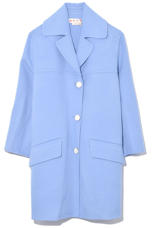 Double Wool Cashmere Coat in Opal