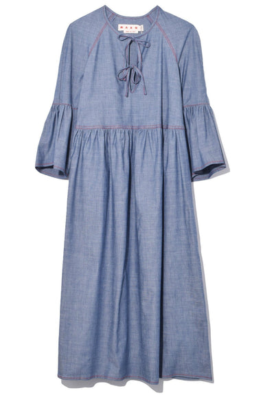 Flared Mid Sleeve Dress in Zaffiro