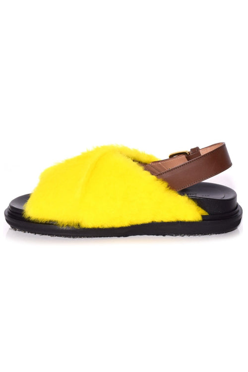 Fussbett Sandal in Yellow