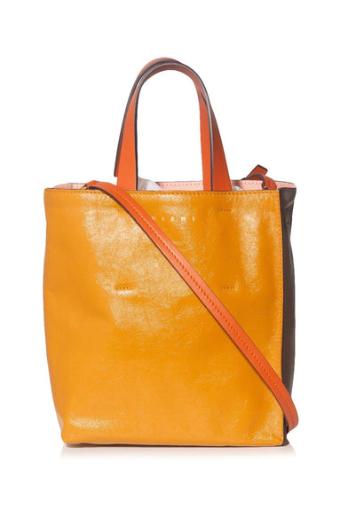 Museo Shopping Bag in Mustard/Grey