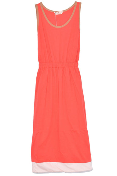 Sleeveless Jersey Dress in Orange Red