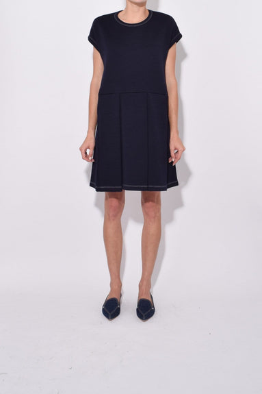 Sleeveless Knit Dress in Blublack