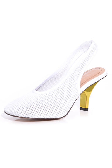 Slingback Pump in Lily White