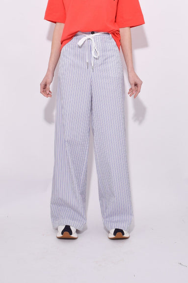 Stripe Trouser in Nougat/Black
