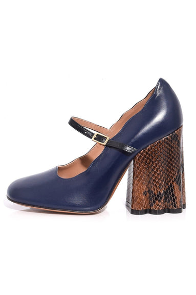 Teatro Mary Jane Pump in Blublack/Black