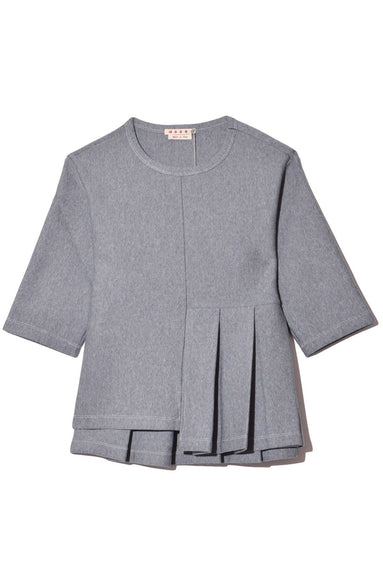 Wool Sweatshirt in Inox
