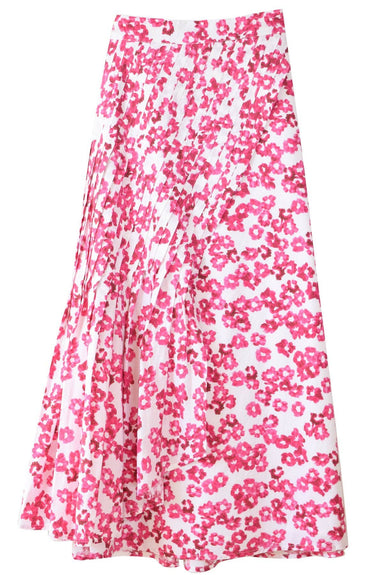 Almijara Skirt in White/Fuchsia Print