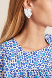 Mini Madeline Earring in Baby Blue/Silver