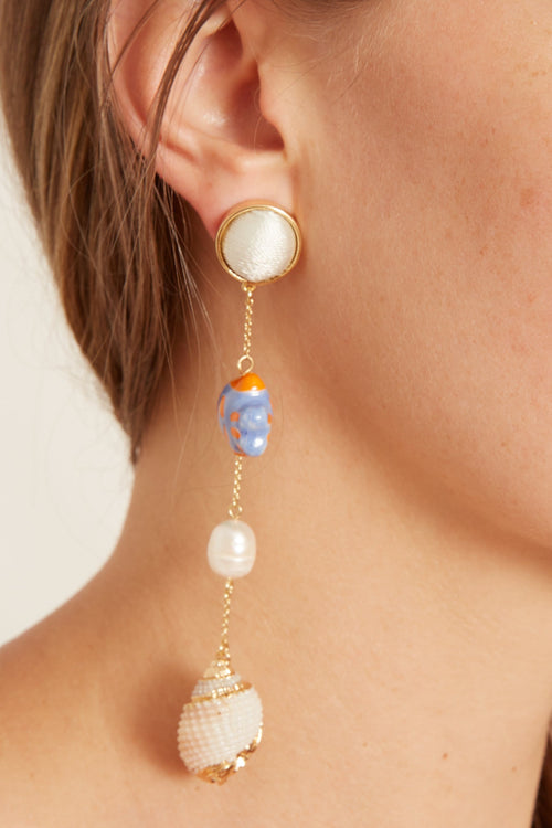 Amani Dangle Earring in Blues