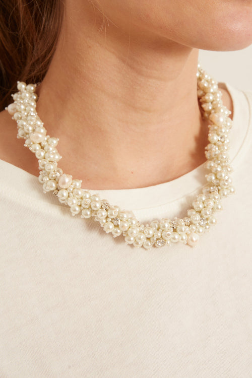 Isadora Pearl Collar in White