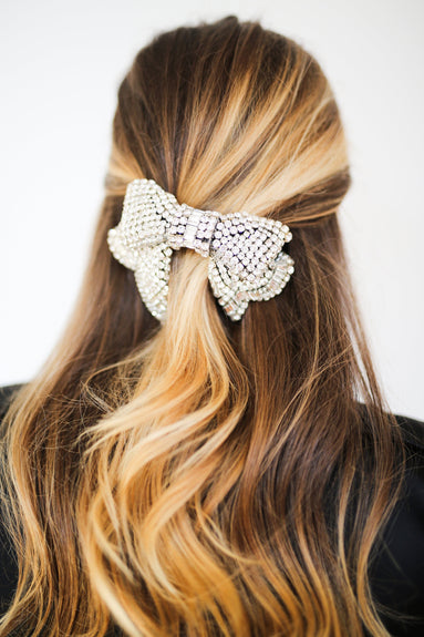 Lexy Large Hairbow in Crystal