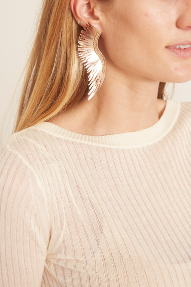 Madeline Earrings in Rose Gold