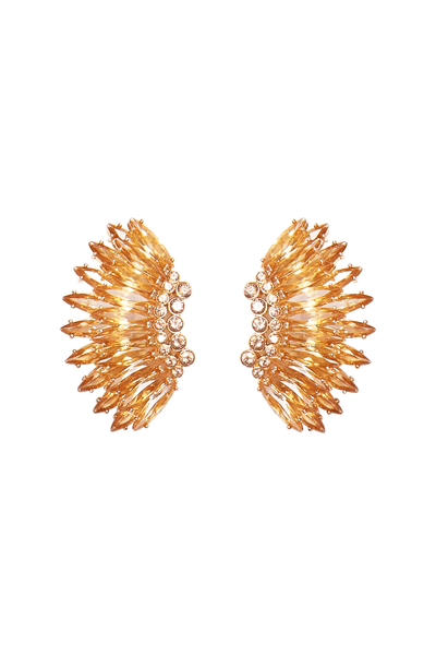 Crystal Mini Madeline Earrings in Gold