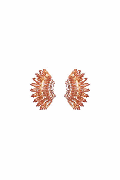Crystal Mini Madeline Earrings in Rose Gold
