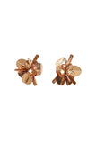 Haley Stud Earrings in Rose Gold