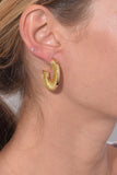 Mini Fiona Hoops in Gold