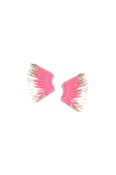 Mini Madeline Earrings in Neon Pink