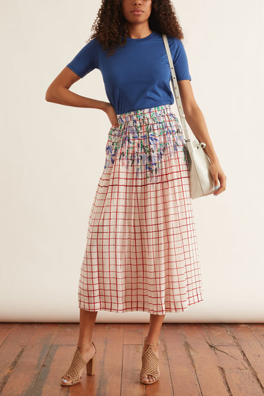 La Pergola Skirt in Red