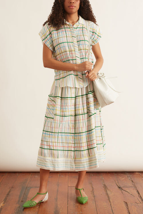 Les Madras Skirt in Pastel