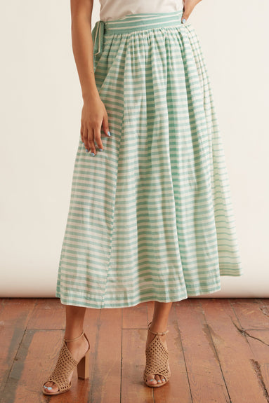 Les Rayures Skirt in Green