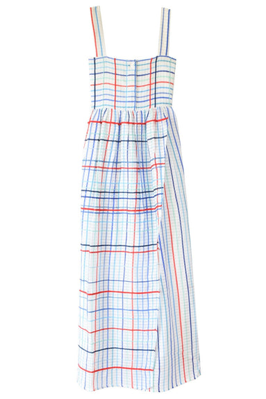Les Madras Dress in Blue