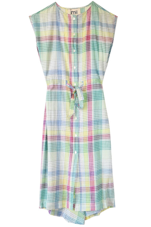 Les Madras Dress in Green