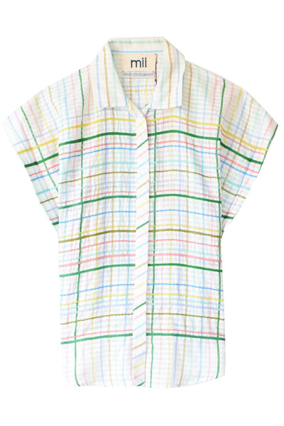 Les Madras Top in Pastel