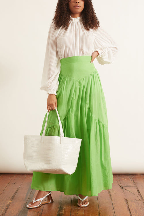 Long Diana Skirt in Grass Green