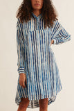 Tulum Dress in Blue Stripe